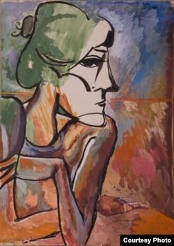 Хикмат Гулямовтің картиналарынан Пикассо шығармашылығының ықпалы байқалады.