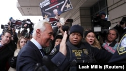 Roger Stone arrives for his arraignment at U.S. District Court in Washington on January 29.