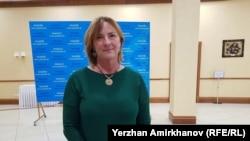 Председатель прибывшей в Астану делегации Европарламента Ивета Григуле. Астана, 10 мая 2018 года.