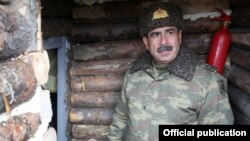 Ադրբեջանի պաշտպանության նախարար Զաքիր Հասանովը շփման գծում, արխիվ