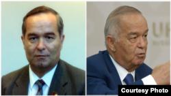 Президент Ислам Каримов в 1990 году (слева) и Ислам Каримов в 2015 году (справа). Фотоколлаж.