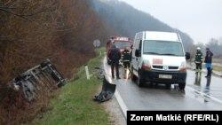 Saobraćajna nesreća kod Modriče, fotoarhiv