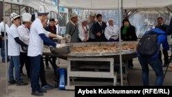 Бишкекте бышырылган бешбармак