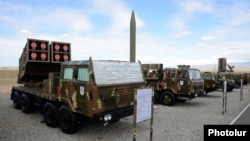 Armenia - Missile and rocket systems put on display during an Armenian military exercise in Armavir region, 8Oct2013.