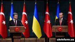 Ukraina ve Türkiye prezidentleri – Petro Poroşenko ve Recep Tayyip Erdoğan, arhivden alınğan fotoresim