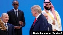 Путин, Трамп и принц Мохаммед бин Салман