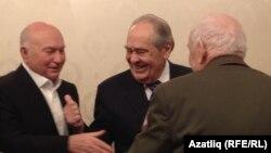 Бывший мэр Москвы Юрий Лужков и бывший президент Татарстана Минтимер Шаймиев на презентации книги в Москве, 6 декабря 2016 года