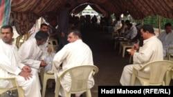اعتصام محتجزين سابقين في رفحاء