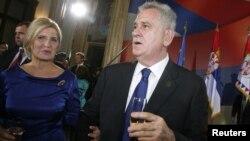 Predsednik Srbije Tomislav Nikolic sa suprugom Dragicom