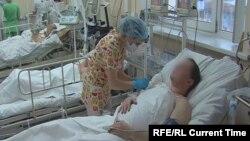 Լոսյոն խմելու հետևանքով թունավորվածները Իրկուտսկի հիվանդանոցում, 20-ը դեկտեմբերի, 2016թ.