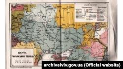 Крим на «Карті українських земель». Видавництво «Нова українська школа», Львів, 1920-і роки