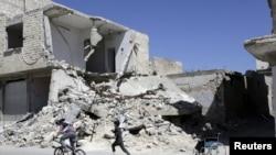 После обстрела в сирийской провинции Идлиб