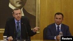 Архивное фото: Президент Турции Реджп Эрдоган и глава турецкого Минюста Бекир Боздаг