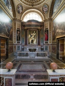 Slika Safeta Zeca (centar) u kapeli Della Passione, Rim