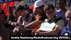 Акція протесту проти нового трудового кодексу, Київ, 21 травня 2012 року