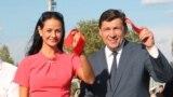 Ольга Глацких и губернатор Свердловской области Евгений Куйвашев. Фото 2016 года
