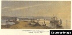 Тарас Шевченко. Новопетровське укріплення з моря (1856-1857)