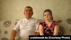 Максим Дускалиев и его дочь Светлана. Уральск, 2019 год.