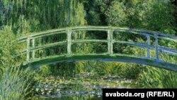 Клёд Манэ, «Водныя ліліі і японскі мост» (1899)