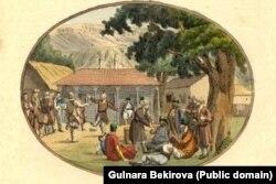 Христиан Гейслер. Развлечения крымских татар. Начало 19 века