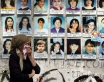 A memorial to the victims of Beslan