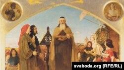 Форд Мэдакс Браўн, «Джон Уікліф чытае свой пераклад Бібліі Джону Гонту» (1847)