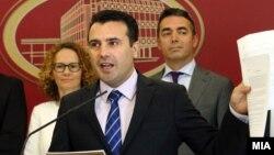 Премиерот Зоран Заев на прес-конференција во Влада го презентира Акцискиот план 3-6-9 за евроинтеграција на Македонија.