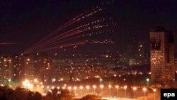 Beograd tokom NATO bombardovanja, 30 april 1999.