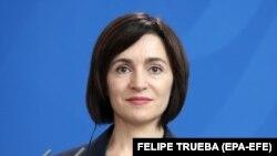 Maia Sandula o conferință de presă la Berlin