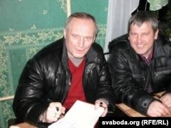 Уладзімер Някляеў і краязнаўца са Сьветлагорску Віктар Раманцоў
