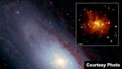 Сверхновая звезда. Фото из журнала Nature