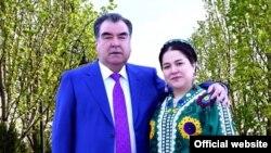 Президент Таджикистана Эмомали Рахмон с дочерью Озодой Рахмон.