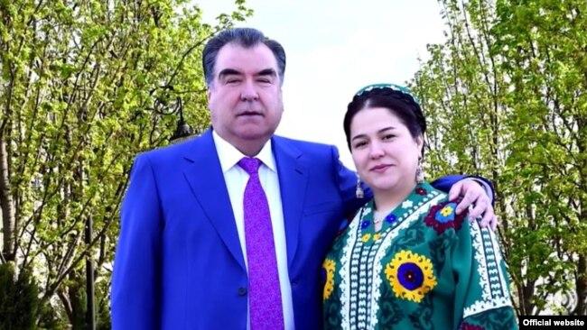 Эмомали Рахмон и его дочь Озода