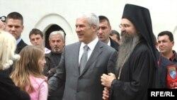 Presidenti serb, Boris Tadiq, në njërën nga vizitat në Kosovë më 17 prill 2009.