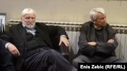 Bora Ćosić i Predrag Matvejević na promociji u Zagrebu