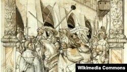 تحقیر والرین امپراطور روم به دست شاپور اول پادشاه ساسانی