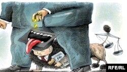 Коррупция тууралуу карикатура.