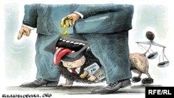Карикатура на тему коррупции.