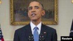 АҚШ президенті Барак Обама. Вашингтон, 17 желтоқсан 2014 жыл.