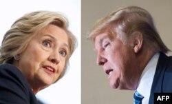 Кандидати у президенти США – Гілларі Клінтон від Демократичної партії і Дональд Трамп від Республіканської партії