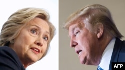 U.S. Democratic presidential candidate Hillary Clinton (left) lashed out against her rival in the White House race, Republican Donald Trump. (combo photo)