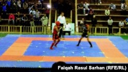 احدى مباريات البطولة العربية للوشوكونغفو