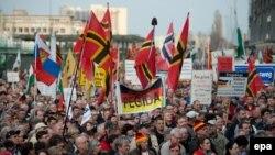 Одна из демонстраций националистов в Дрездене, апрель 2016