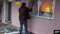Напад на Горлівський райвідділок міліції, Донецька область, 14 квітня 2014 року