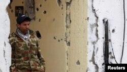 یکی از شورشیان لیبی در اجدابیا
