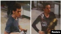 تصویر منتشرشده توسط پلیس مالزی از دو فردی که با گذرنامه دزدی سوار هواپیمای گمشده شدهبودند.