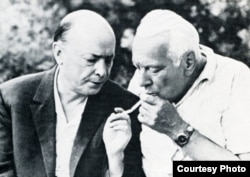 Куляшоў і Лынькоў на Нарачы ў 1973-м.
