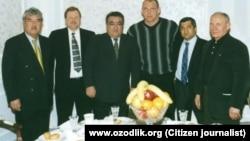 Aleksey Yaitskiy (chapdan ikkinchi), Salim Abduvaliyev (chapdan birinchi) va marhum Arslon Ro'zmetov(chapdan uchinchi)