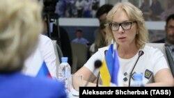 Людмила Денісова на зустрічі з Тетяною Москальковою, 18 червня 2018 року