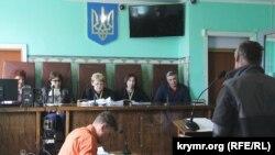 Заседание суда по делу о теракте в Новоалексеевке. Геническ, май 2017 года